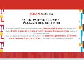 A MILANOGOLOSA dal 15 al 17 Ottobre 2016